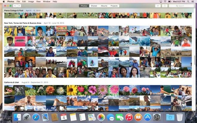 Photos llega en primavera pero ya hemos podido ver gracias a la primera beta de OS X 10.10.3 Yosemite