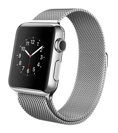 Apple Watch con caja de 38 mm en acero inoxidable y correa Milanese Loop