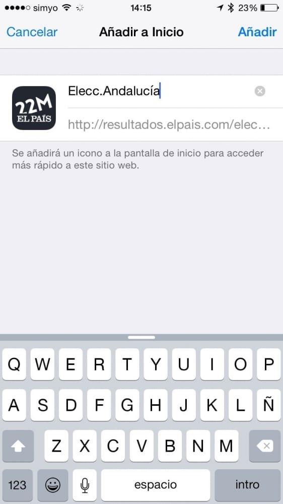 Cómo seguir las elecciones de Andalucía desde tu iPhone o iPad
