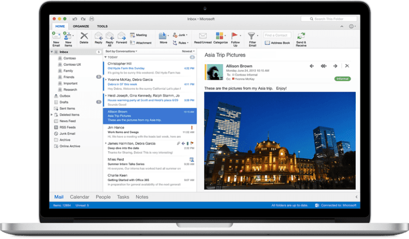 Outlook 2016 para Mac