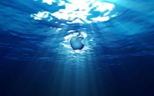 logo apple agua mar ocenano