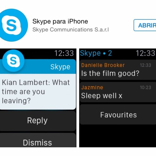 Skype Apple Watch App Store