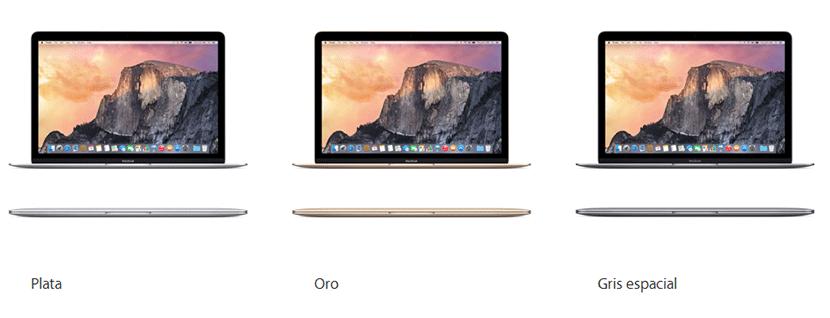 colores nuevo macbook 12 pulgadas