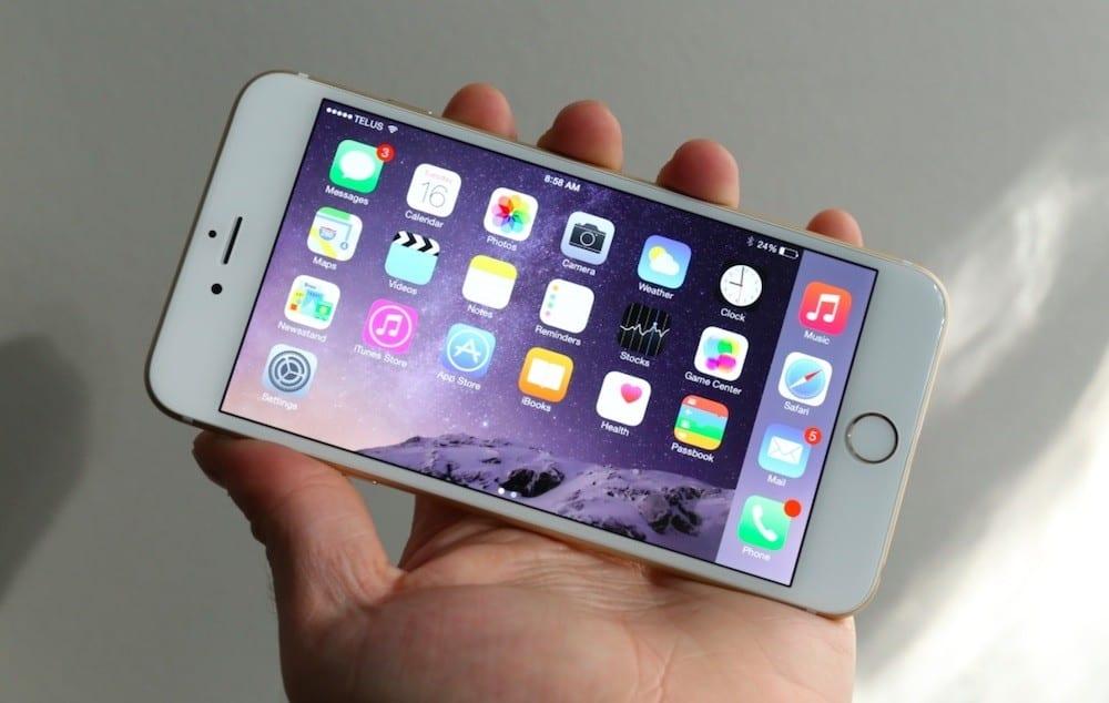 iPhone 6 Plus rotacion iOS 8.3