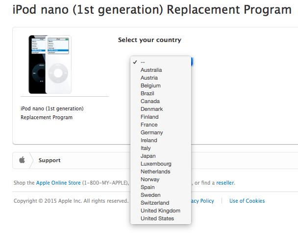 sustitucion iPod nano