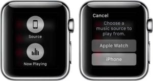 Fuente musica Apple Watch