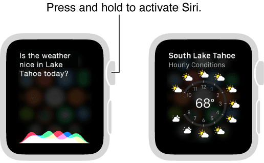 activar siri apple watch