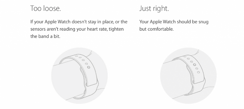 apple-watch consejo apretar correa