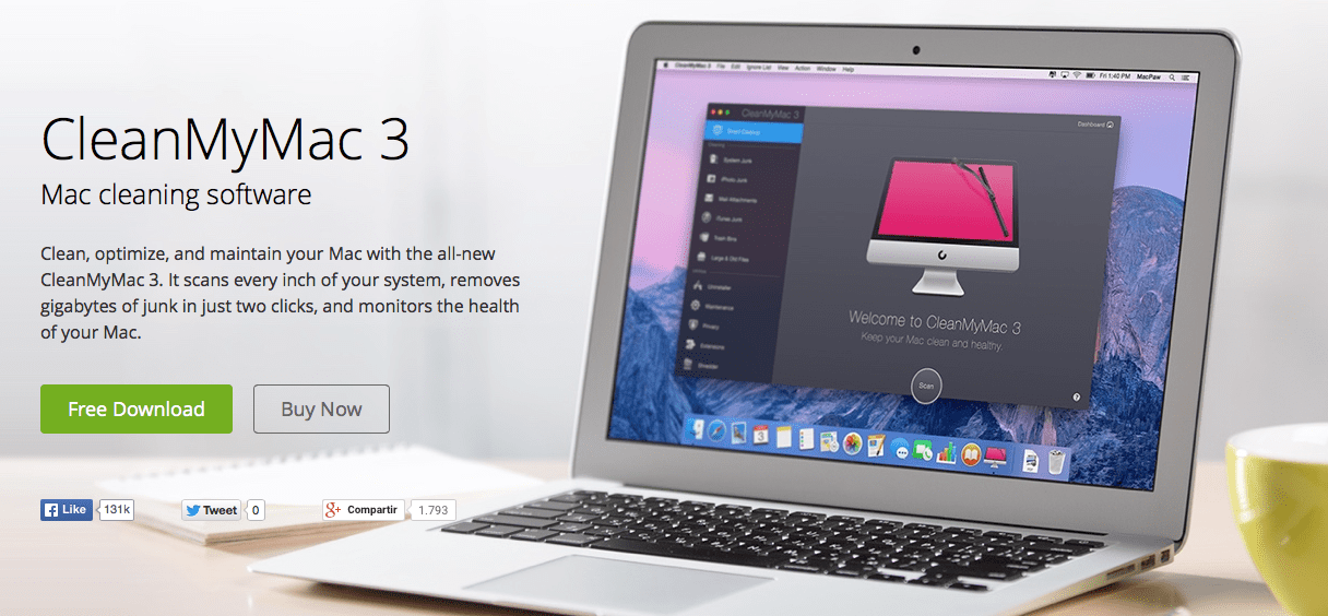 La genial aplicación CleanMyMac 3 se actualiza a la versión 3.4.1