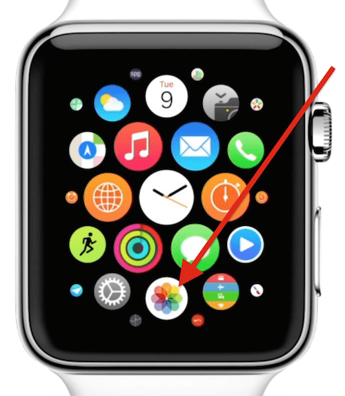 fotos apple watch