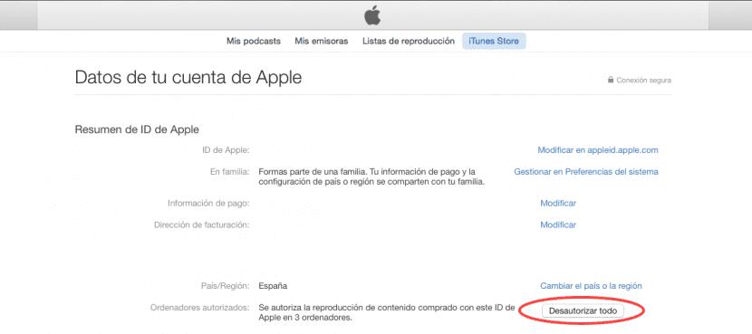 iTunes 12-retirar-autorizaciones-0