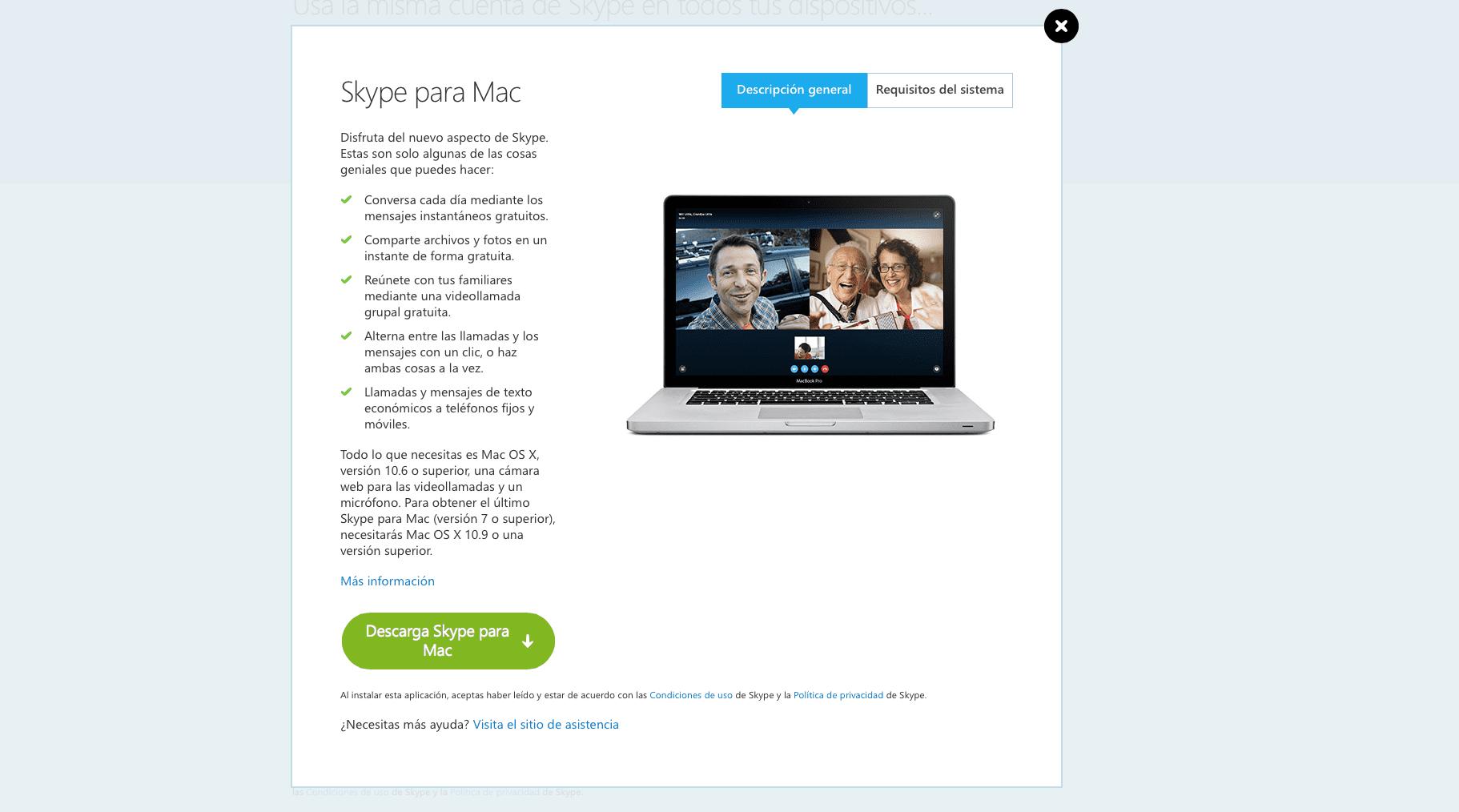 Skype para Mac se actualiza a la versión 7.9