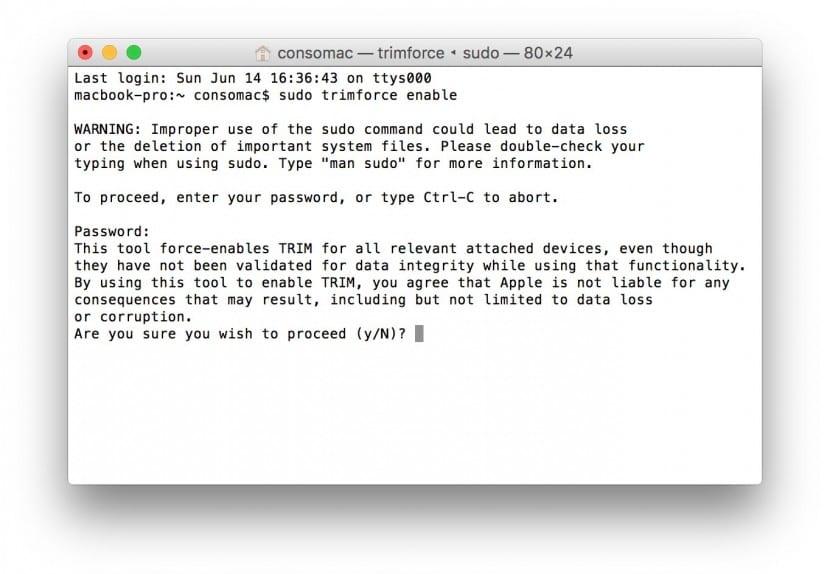 TRIM-OS X El capitan-activar-1