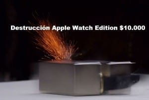 Apple Watch Edition destruido