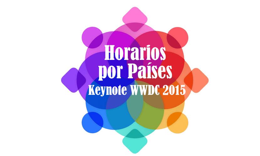 horarios paises wwdc 2015 keynote