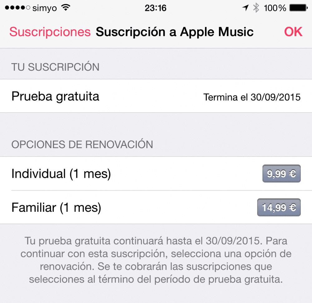 Cómo anular la renovación automática a Apple Music 6