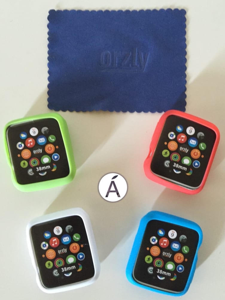 Fundas Orzly para Apple Watch en 5 colores: negro, blanco, azul, verde y rojo