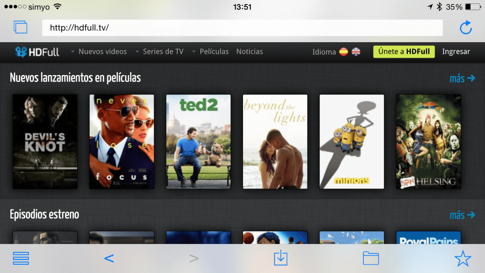 Video Explorer, y llena tu iPhone y iPad de pelis y series