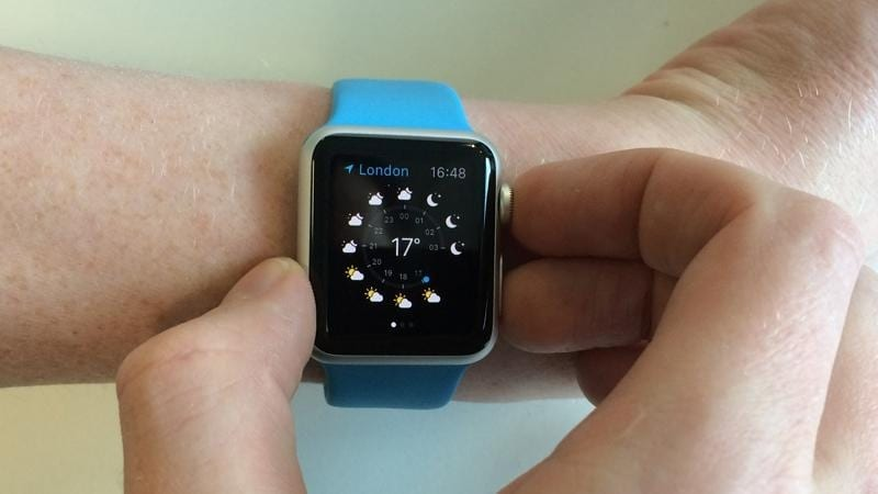 captura pantalla en apple watch
