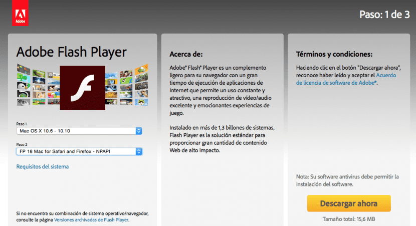 Adobe flash player version 18.0.0.209