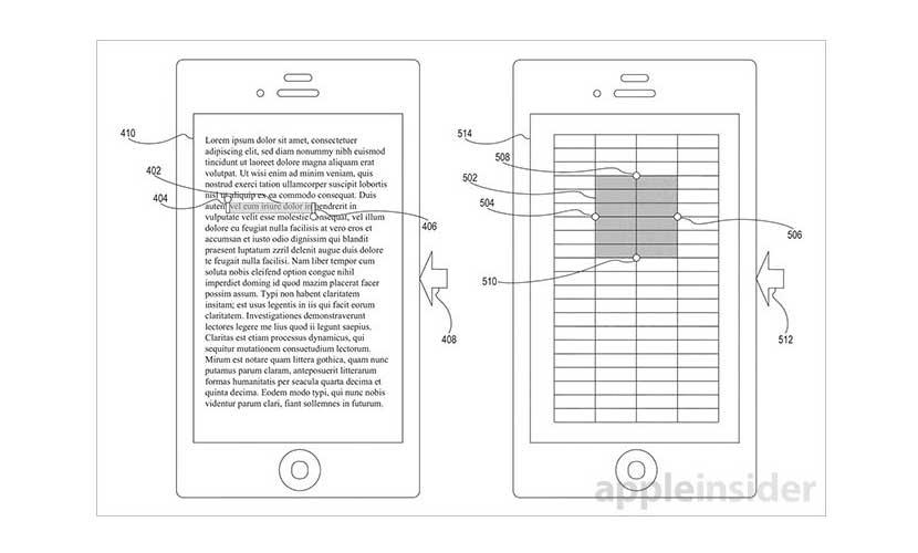 patente apple No. 9,086,738