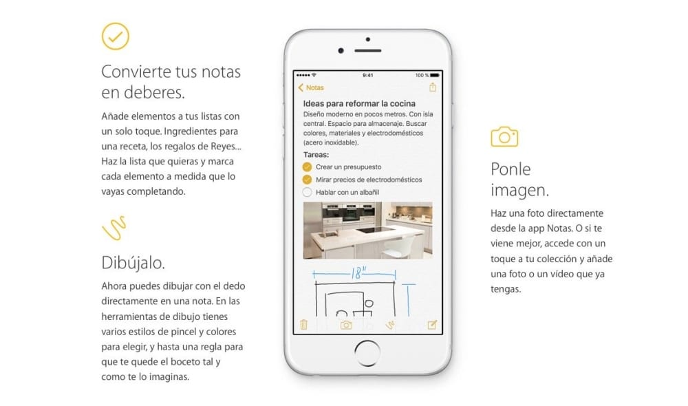 Cómo compartir una página web en Notas con iOS 9