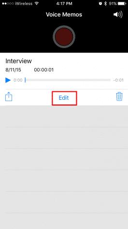 Cómo editar Notas de Voz en tu iPhone 1