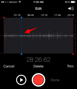 Cómo editar Notas de Voz en tu iPhone 3