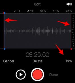Cómo editar Notas de Voz en tu iPhone 4