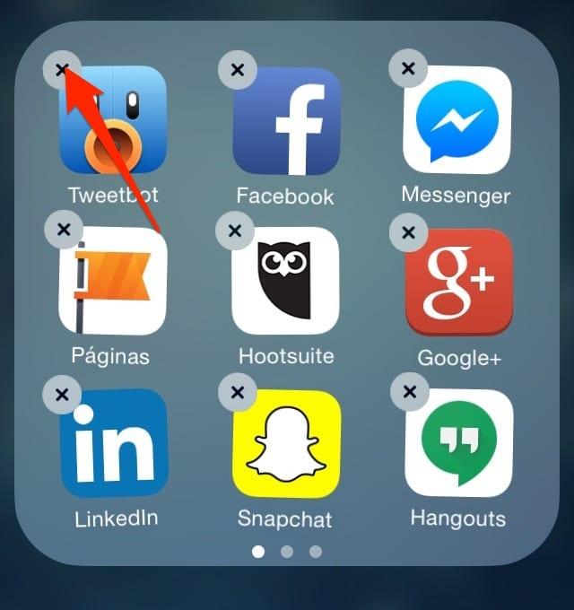 Desinstala app ios