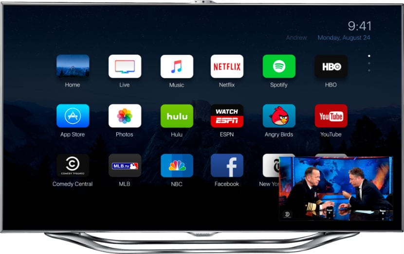 apple tv 4 concepto