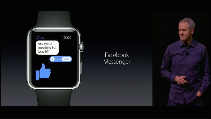 Facebook Messenger Apple Watch