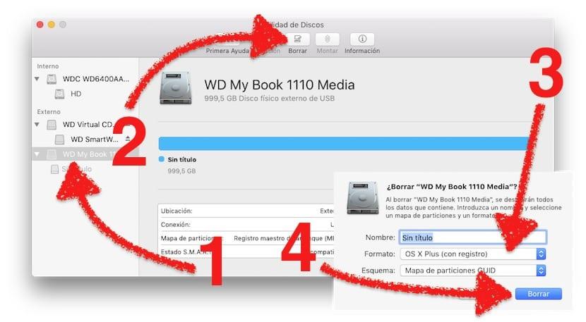 Cómo formatear Mac con la utilidad de discos