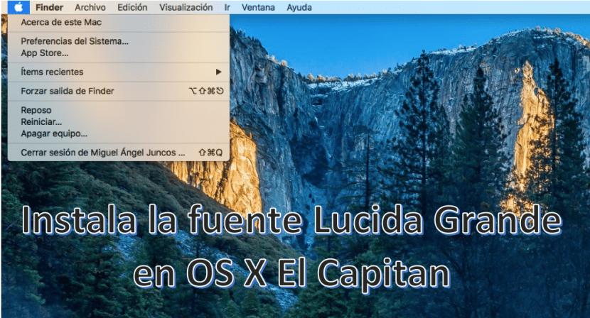 Fuente Lucida Grande-OS X El Capitan-0