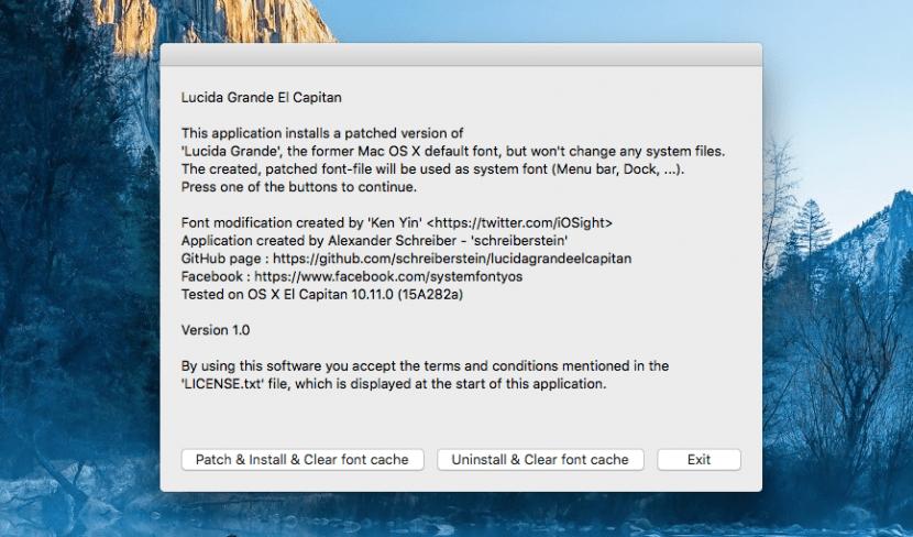 Fuente Lucida Grande-OS X El Capitan-1
