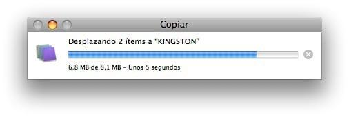 Moviendo archivo en Mac