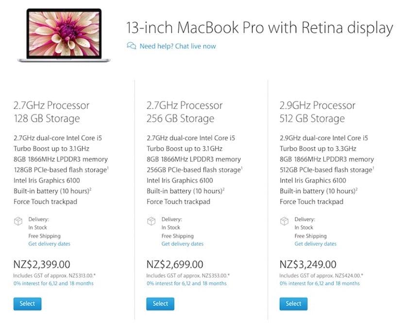 Nuevos-precios.nueva-zelanda-mac