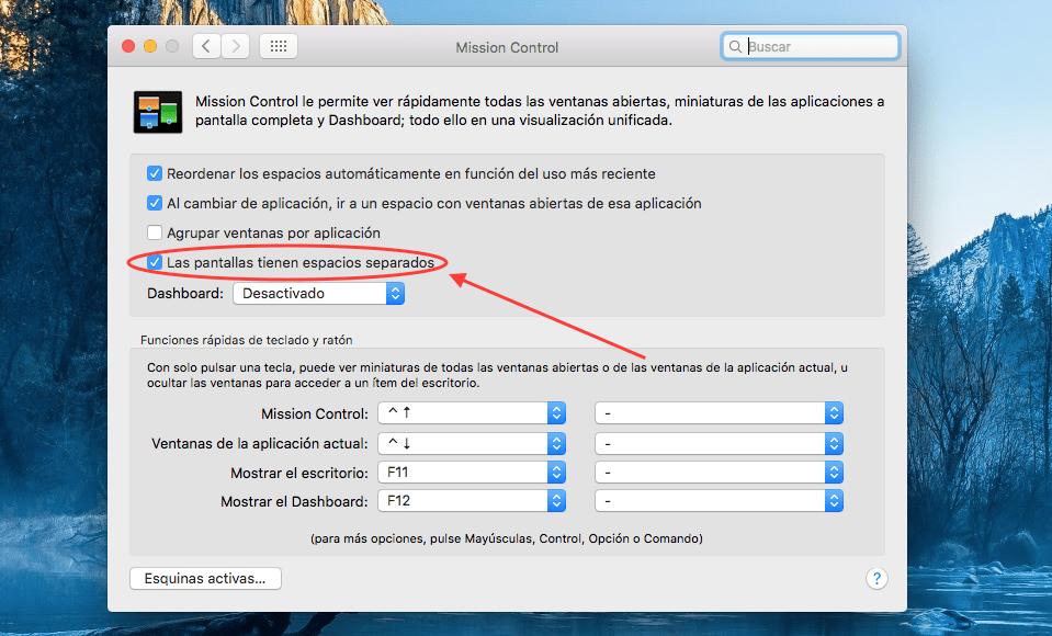Resuelve los problemas con Split View en OS X El Capitan
