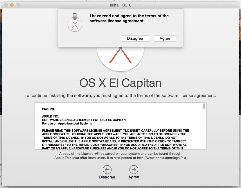 contrato licencia OSX el capitan