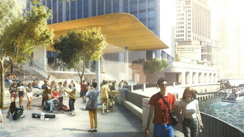 Apple Store Chicago-rio-nuevo diseño-0