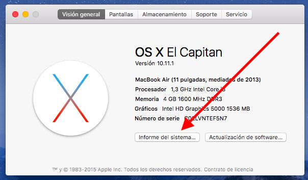 Comprobar ciclos de carga batería MacBook