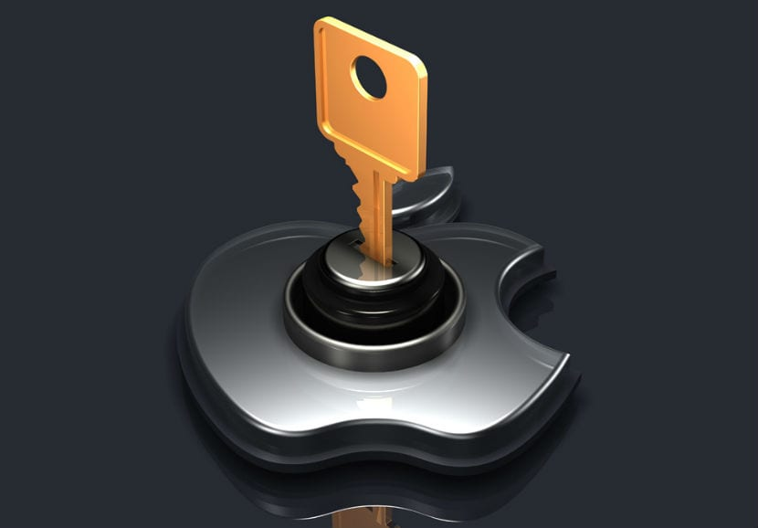 apple ecriptacion llave candado