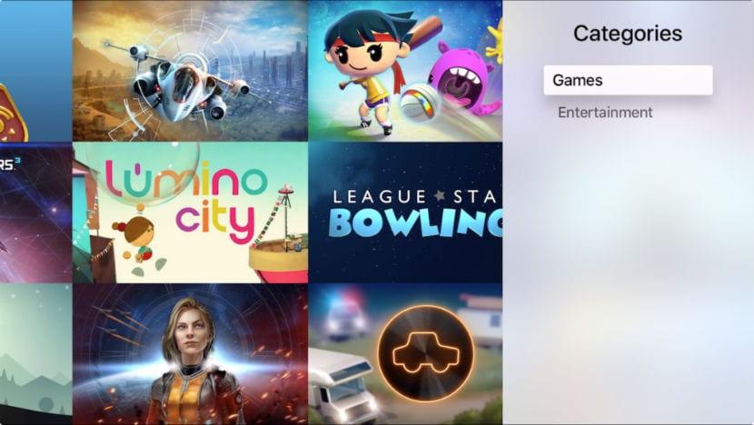categorías apple tv