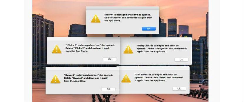 fallo certificado mac app store