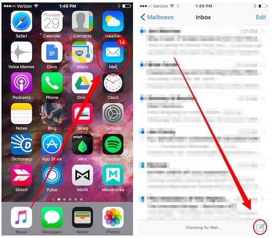 Cómo agregar adjuntos a un mensaje en Mail para iOS 9