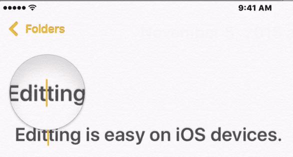 Cómo editar texto en tu iPhone o iPad 2