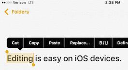 Cómo editar texto en tu iPhone o iPad 4