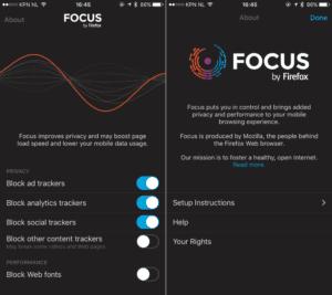 Focus de Firefox 2