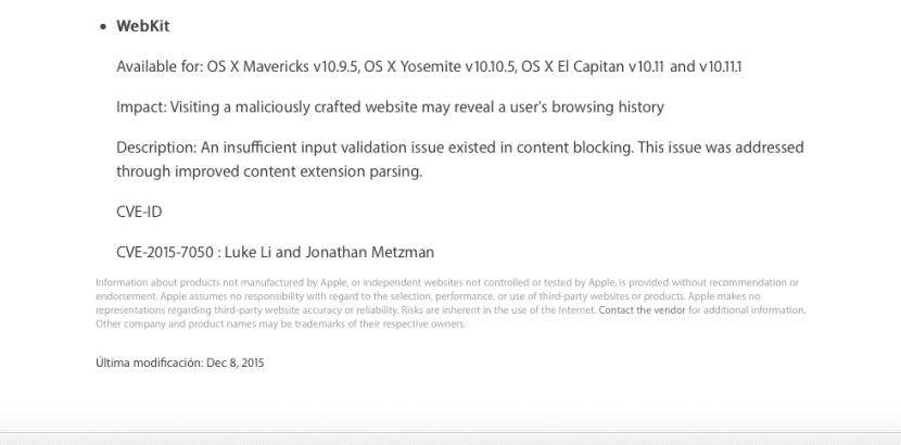 Safari 9.0.2-seguridad-actualización-0