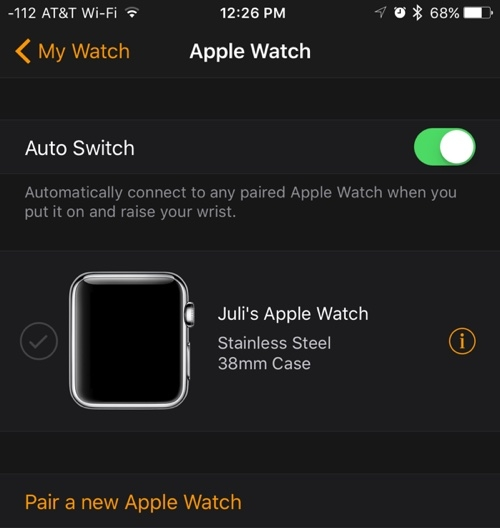 apple watch ios 9.3